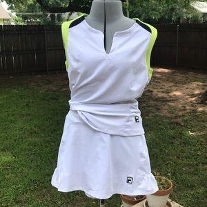 Fila tennis skort and top